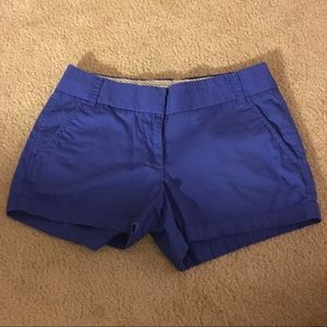 J. Crew Royal Blue Chino Broken-in Shorts Size 0